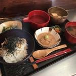 めし屋 仙瑞 - 鯛の胡麻茶漬け定食