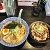 麺屋 青山 - 料理写真:鶏ガラ 醤油ラーメン&炙りチャーシュー丼