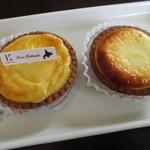 88763097 - 2種類のチーズタルト