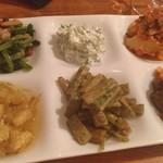 和献洋菜Hi-Bi - 野菜の前菜6種盛り