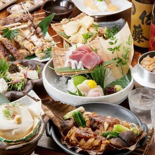 ご宴会がお得!2時間飲み放題付2,980円〜。