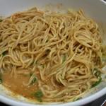 88767291 - 「汁なし担々麺」(混ぜた後)