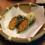 鮨 和食 ひとしずく - うにの天ぷら(1000円)