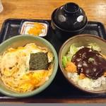 味司 野村 - 2018年6月 1/2盛り 孫ソース(ロース)+1/2盛り 孫玉子(ヒレ) 550+600円