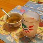 さわやか - げんこつ倶楽部の「スープ」と「カンパイドリンク」