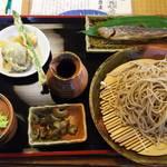 時空 - 料理写真:アスパラガスが一本!どーんと! やはり美味しい!蕎麦湯もお代わりしました(^_^;)