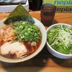 清勝丸 - あっさり煮干ラーメン&ネギ丼
