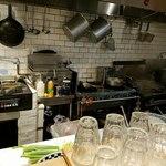 超多加水自家製手揉み麺 きたかた食堂 - 厨房