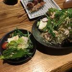 本格炭火焼鳥あおいろ - お豆腐のササミがとっても美味しいサラダ