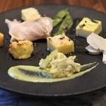 アビタコロ - ランチの前菜