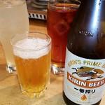 88785216 - 瓶ビールとチューハイと烏龍茶