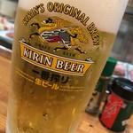 元祖 満州焼 庄兵衛 - 生ビール