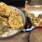 豊野丼 - 鯵・烏賊・車海老の三色丼