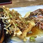 豊野丼 - 鯵・烏賊・車海老の三色丼 アネックス
