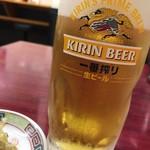 タンタンメン本舗 - 生ビール