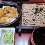 歌行燈 - 料理写真:ざるそばと天丼ランチ787円