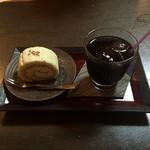蕎麦処 みかわ - そば粉のロールケーキ