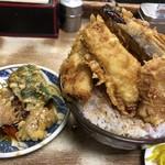 豊野丼 - 穴子天丼 大盛りとアネックス