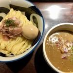 九十九里煮干つけ麺 志奈田 - 純濃煮干しつけ麺890円+味玉100円