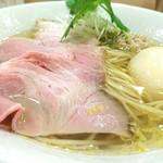 麦と麺助 新梅田中津店 - 味玉イリコそば 950円