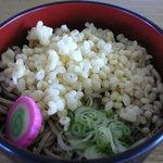 そば処 増毛駅 - 冷やしたぬき蕎麦