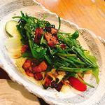 恵み家 - 空心菜のサラダ