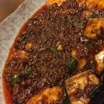 かつぎや - お馴染み6 麻婆豆腐5辛 花椒の痺れがクセになります