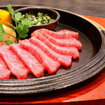 富山産和牛 熟成赤身 薄切り鉄板焼き