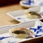 花いち - 【早寿司】〆あじ握り