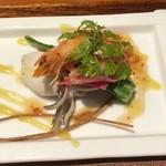 アジアンダイニング 金魚蘭 - イカとエビのマリネ