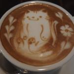 88814352 - ランチセット1300円のカフェラテ