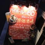 ジョニーの原価酒場 Bar - ジョニーの原価酒場 Bar(東京都港区芝)看板