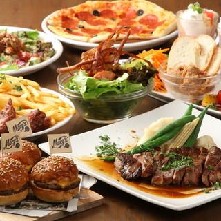 選べる8種類のコースは、記念日や飲み会、パーティーに最適!