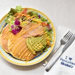 生ハムチーズサラダパンケーキ