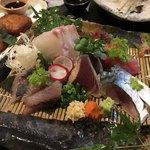 赤鶏炭焼 大安 - 刺身:五種盛り