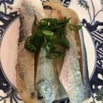 廻鮮寿司 塩釜港 - ニシン、酢締めなのか少し臭いがしました