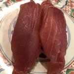 廻鮮寿司 塩釜港 - マグロ、少し臭いがしました