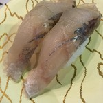 廻鮮寿司 塩釜港 - 黒ソイ、少し臭いがしました
