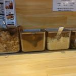 サバ6製麺所 - ☆薬味が色々あるので味変出来ます☆