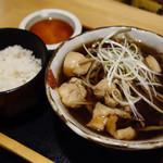 香るつけ蕎麦 蕎麦花 - 【ランチ】鳥ごぼう蕎麦ととろろご飯