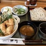 そばと膳 田川 - 料理写真:野菜と鶏の天丼とそば 1,080円