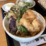 そばと膳 田川 - セットの天丼