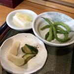 そばと膳 田川 - 小鉢とデザート