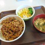 すき家 - サラダセット(¥500)