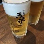 栄 馬肉酒場 馬喰ろう - 生ビール