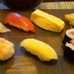 寿司 松岡 - これにサラダ+お蕎麦+デザートで1400円