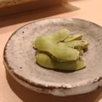 鮨みやもと - 料理写真:焼き枝豆