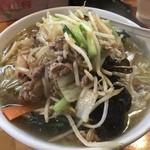 中華食堂 万華 - 料理写真:野菜ラーメン塩味(¥800)+大盛(¥120)