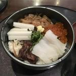 海陽亭 - 白いか三刀流丼丼