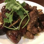 中華料理 八戒 - ラムスペアリブと麻天唐辛子